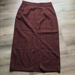 Skirts - Skirt purplish red